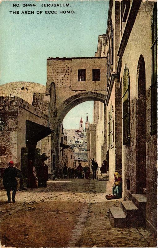 CPA AK JERUSALEM The Arch of Ecce Homo ISRAEL (752014)