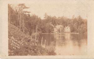 Oxford  Nova Scotia Canada Salt Lake Real Photo Antique Postcard J49379