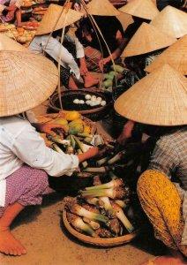 Cuộc sống đời thường VIETNAM Da Nang City Market c1960s Vintage Postcard