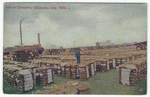Oklahoma City, Oklahoma, Vintage Postcard View Showing Cotton Compress, 1913