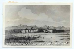 RPPC of Art Work Jim Bridger's Trading Post in 1849 Wyoming WY