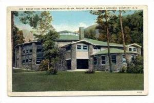 Anderson Auditorium, Presbyterian Assembly Grounds, Montreat, North Carolina,...