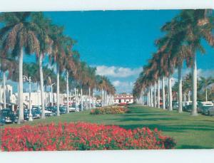 Unused Pre-1980 STREET SCENE Palm Beach Florida FL hp1765