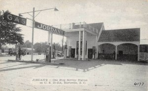 LP71  Hartsville South Carolina Gas Station    Postcard