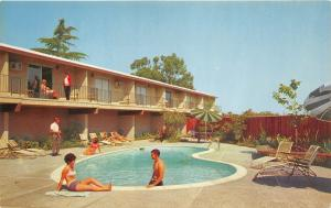 Mountain View California~Tropicana Lodge Swimming Pool~El Camino Real~1970s Pc