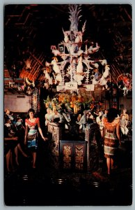 Postcard Anaheim CA c1969 Disneyland Enchanted Tiki Room Interior View 01110429