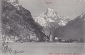 Switzerland Fluelen mit Bristnstock 1911