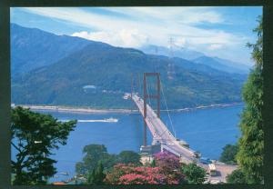 Suspension Bridge at Namhae South Korea Landscape View Korean Vintage Postcard