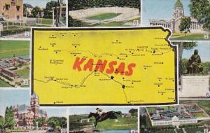 Kansas Map With Multi Views 1945