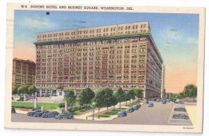 Dupont Hotel Rodney Square Wilmington DE Linen Curteich 1944