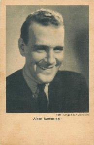 Actor Albert Matterstock Postcard