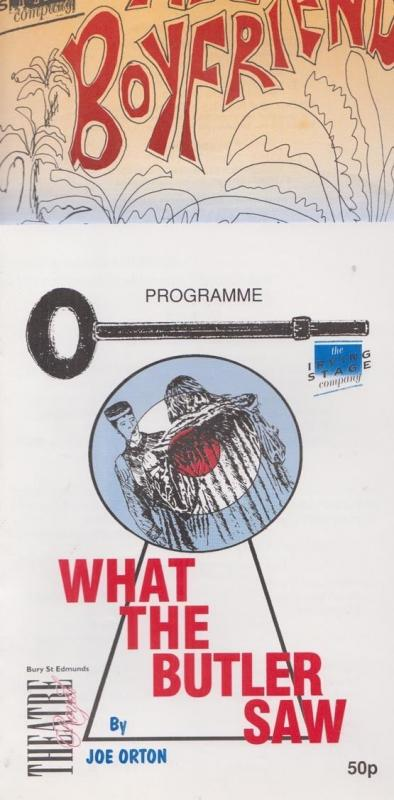What The Butler Saw Boyfriend 2x Suffolk Bury St Edmunds Theatre Programme s