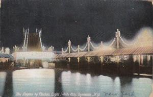New York Syracuse The Lagoon By Electric Light In White City 1909