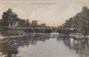 Suspension Bridge, SKOWHEGAN, Maine, 1900-1910s