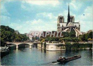 Modern Postcard Notre Dame Paris Boat Peniche