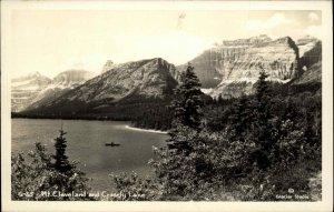 Glacier National Park? Mt. Cleveland & Crosely Lake Real Photo Postcard