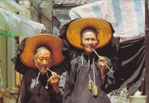 China (Hong Kong) , Village women outside Kathing Walled City , 50-70s