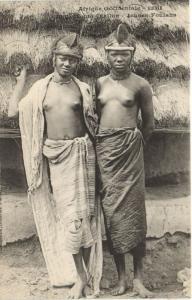 CPA Senegal Ethnic Nude Fortier - 1081. Fouta-Djallon - Jeunes Foulahs (70851)