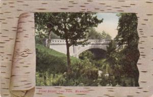 Wisconsin Milwaukee Stone Bridge In Lake Park Fancy Border 1909