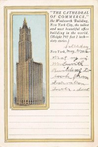 The Woolworth Building, Manhattan, New York City, 1922 Postcard