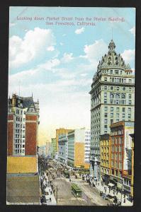 Market St From Phelan Building San Francisco CA Unused c1910