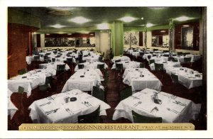 New York City McGinnis Restaurant Crystal Bay Dining Room