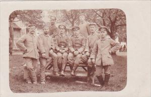 Military German Soldiers Posing In Uniform Real Photo