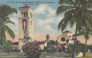 Florida Miami Beach St Patrick's Catholic Church and Campanile 1955 Curt...
