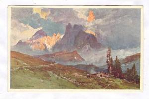 Passo di Rolle (m 1894) col Cimon della Pala (m 31860, Dolomiti, Italy, 00-10s