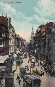 LONDON, England, 1900-1910s; Cheapside, General View