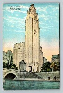 Columbus OH-Ohio, American Insurance Union Building, Vintage Postcard
