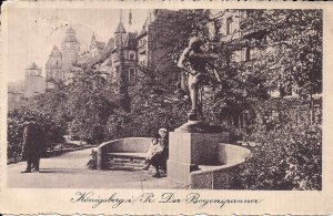 Koenigsberg, East Prussia, Germany, 1913, Statue Bow & Arrow, Kaliningrad Russia