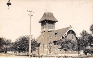 Larned KS First Methodist Church~I Run A Nail In My Foot A Day Ago~RPPC~1907