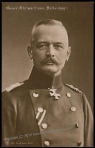 German Empire General von Flakenhayn Portrait  RPPC 64340
