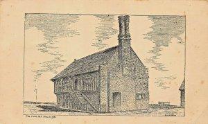 ALDEBURGH SUFFOLK ENGLAND~MOOT HALL~ARTIST REGINALD HONTON sic HINTON POSTCARD