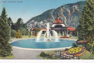 Switzerland Interlaken Kursaal Casino Garden With Fountain sk4300
