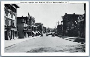 BALDWINSVILLE NY BUSINESS SECTION & OSWEGO STREET ANTIQUE POSTCARD