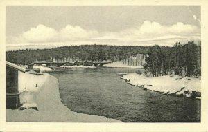 finland suomi, KAJAANI KAJANA, River Scene (1930s) Postcard