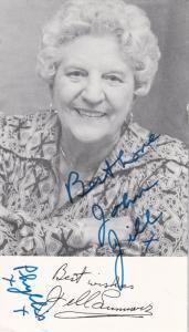 Jill Summers Coronation Street Hand Signed Cast Card Photo