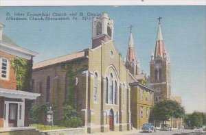 Pennsylvania Shenandoah St Johns Evangelical Church And St George Lithuanian ...
