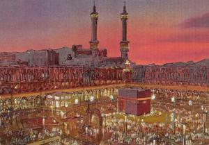 Holographic Postcard The Holy Ka'aba, Mosque, Mecca, Saudi Arabia V15