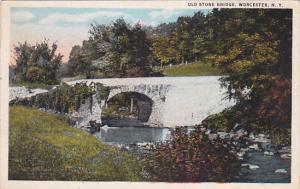 Old Stone Bridge, WORCESTER, New York, PU-1913