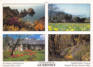 Guernsey Postcard Channel Islands Multi View by D.R Photography Ltd P7