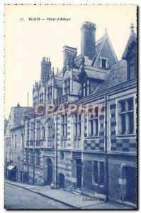 Old Postcard Blois Hotel d & # 39Alluye