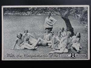Adverts With Compliments of DAILY 8 MIRROR GLAMOUR GIRLS BATHING BEAUTIES c1940s