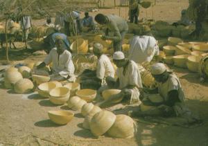 Calabash Carvers at Katsina Market Nigeria Africa Postcard