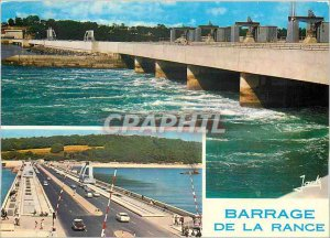 Postcard Modern Dam Rance tidal plant in filling and pavement dam