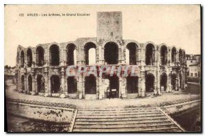 Old Postcard Arles Arnes the Grand Staircase