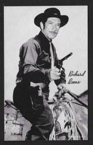ARCADE CARD Cowboy Entertainer Richard Boone