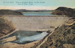 Texas El Paso Dam At Elephant Butte On Rio Grande 1929 Curteich